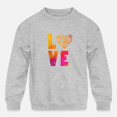 Rescue Heart Dog Paws Cute Gift For Animal Rescue product - Kids' Crewneck Sweatshirt