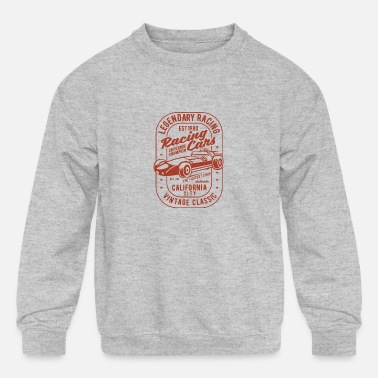 Legendary Racing Cars - Kids' Crewneck Sweatshirt