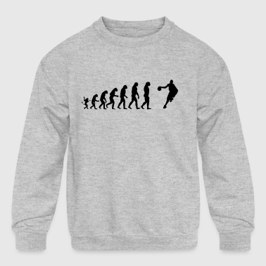 Basketball player Evolution - Kid's Crewneck Sweatshirt