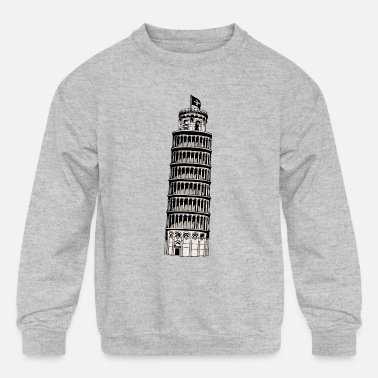 Inclined Tower leaning tower of pisa - Kids' Crewneck Sweatshirt