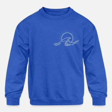 Ocean Waves Ocean Wave - Kids' Crewneck Sweatshirt
