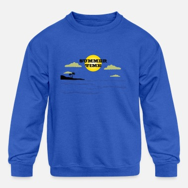 summer time - Kids' Crewneck Sweatshirt