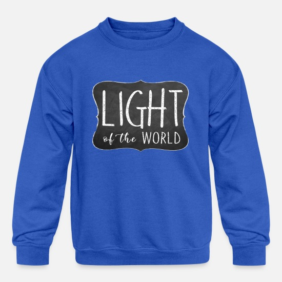 Light Hoodies & Sweatshirts - Light of the World - Kids' Crewneck Sweatshirt royal blue