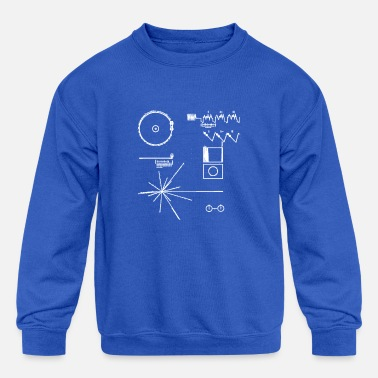Record golden record NASA voyager space official images - Kids' Crewneck Sweatshirt