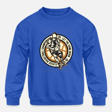 Classic Basketball - Kids' Crewneck Sweatshirt