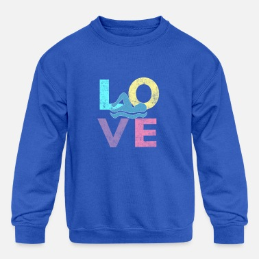 Awesome Girls & Womens Swim Gift They Simply LOVE to Swim - Kids' Crewneck Sweatshirt