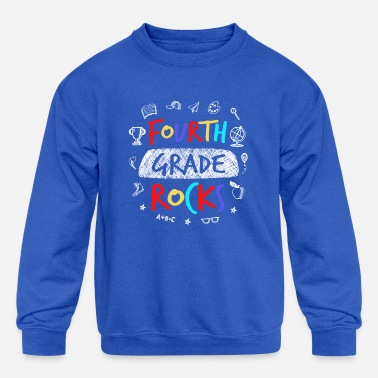 Fourth Grade Rocks - Back to School Teacher Gift - Kids' Crewneck Sweatshirt