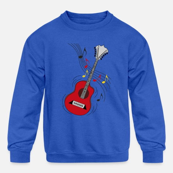 Funny Hoodies & Sweatshirts - guitar - Kids' Crewneck Sweatshirt royal blue