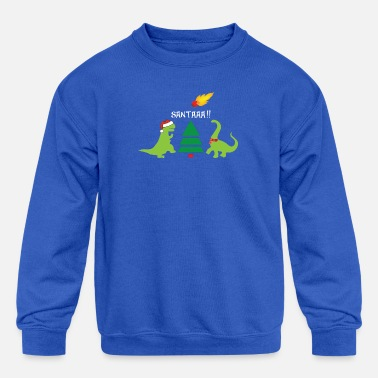 Extinct Merry Extinction - Kids' Crewneck Sweatshirt
