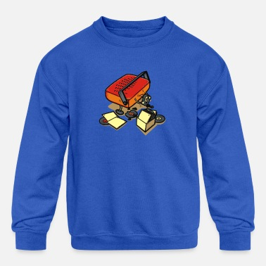 Record Champion Record Eater - Kids' Crewneck Sweatshirt