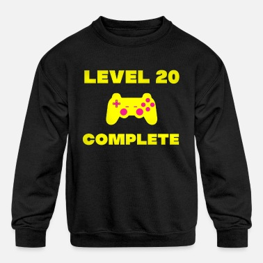 Gamer Geek 20th birthday gaming gamer gift funny - Kids' Crewneck Sweatshirt