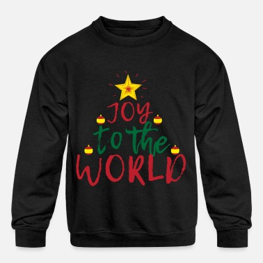 Joy Joy to the World - Kids' Crewneck Sweatshirt