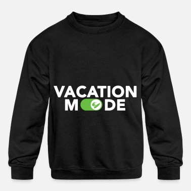 Mode Vacation Mode Surfing Surfboard Hawaii Gift Wave - Kids' Crewneck Sweatshirt