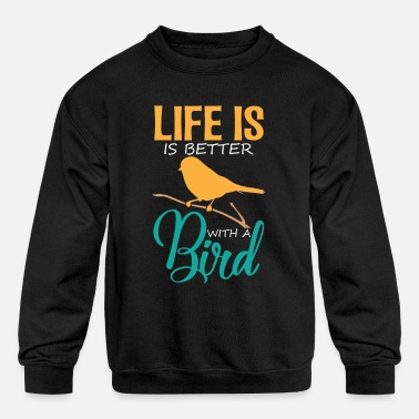 Birds Lovers Bird Lover - Kids' Crewneck Sweatshirt