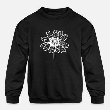 Leaf Flower and floral symbol - Kids' Crewneck Sweatshirt