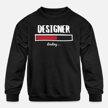 Designs Funny Designer Design - Kids' Crewneck Sweatshirt