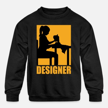 Designs Designer Design - Kids' Crewneck Sweatshirt
