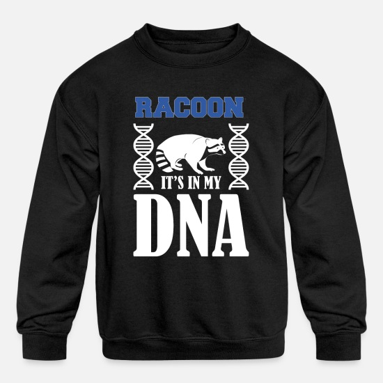Raccoon Hoodies & Sweatshirts - Raccoon - Kids' Crewneck Sweatshirt black