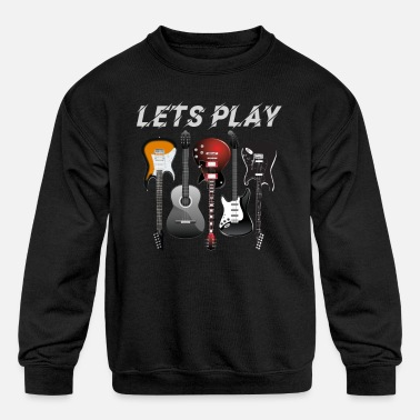 Guitar - Kids' Crewneck Sweatshirt