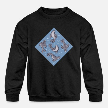 Harbor Seal Swimming Seals - Kids' Crewneck Sweatshirt