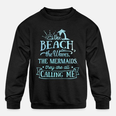 Weekend The Beach The Waves Summer Sun Sunshine Love - Kids' Crewneck Sweatshirt