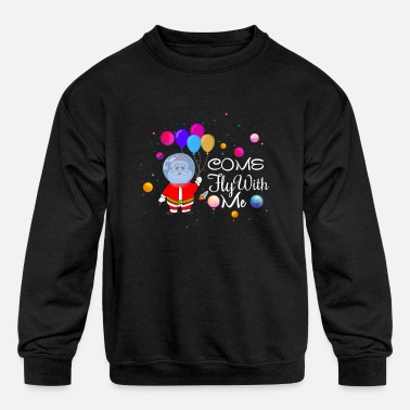 Vacation Come Fly with Me Santa Claus Christmas Clothings - Kids' Crewneck Sweatshirt