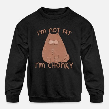 Cat Breed Not fat, but clumpy - Kids' Crewneck Sweatshirt