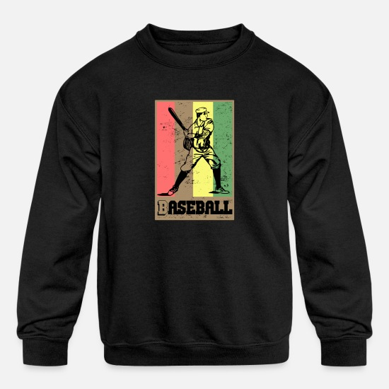 Baseball Glove Hoodies & Sweatshirts - Baseball player. reggae - Kids' Crewneck Sweatshirt black