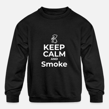 Smoke Smoke - Kids' Crewneck Sweatshirt