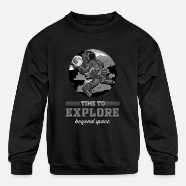 Platonic Solids Platonic Pythagoras Space Missile Astronaut Ship - Kids' Crewneck Sweatshirt