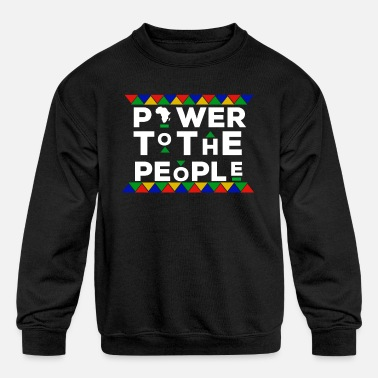 Afro BLACK POWER HBCU AFRICA MOTHERLAND AFRO EDUCATED - Kids' Crewneck Sweatshirt