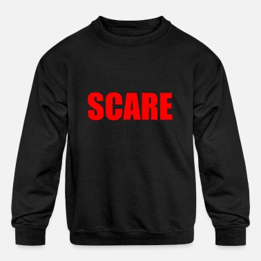 Scared SCARE - Kids' Crewneck Sweatshirt