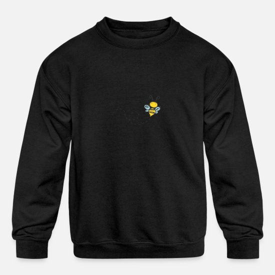 Bee Hoodies & Sweatshirts - BEE - Kids' Crewneck Sweatshirt black