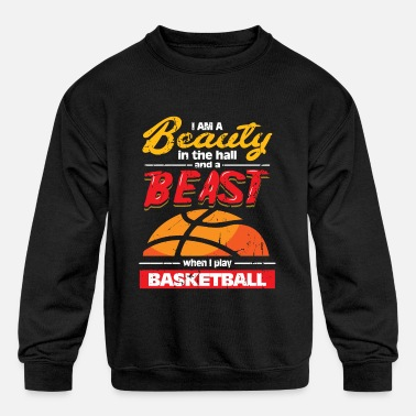 Ball Basketball Beauty in the Hall and Beast - Kids' Crewneck Sweatshirt