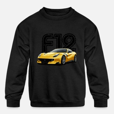 Ferrari f12 front side - Kids' Crewneck Sweatshirt