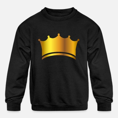 King prince gold crown VIP lable vector image fun - Kids' Crewneck Sweatshirt