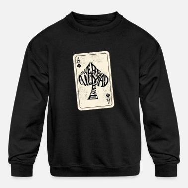 Wonderland Alice in Wonderland | Ace Of Spades Were All Mad Here - Kids' Crewneck Sweatshirt