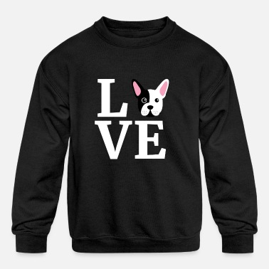 I Love My French Bulldog Gift for Dog Lovers - Kids' Crewneck Sweatshirt