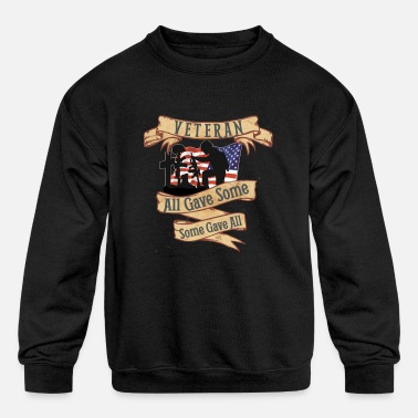 Dad Veteran Shirt OIF OEF Military Retirement T Shirt - Kids' Crewneck Sweatshirt