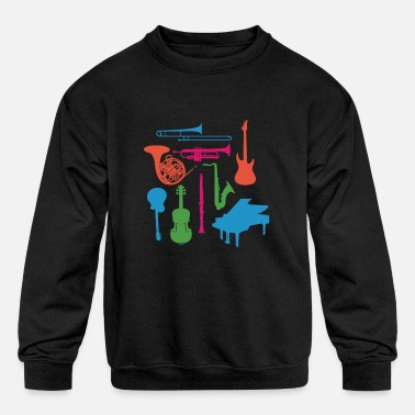 Instrument Musical Instruments - Kids' Crewneck Sweatshirt
