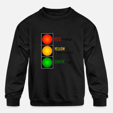 Light Traffic Light - Kids' Crewneck Sweatshirt