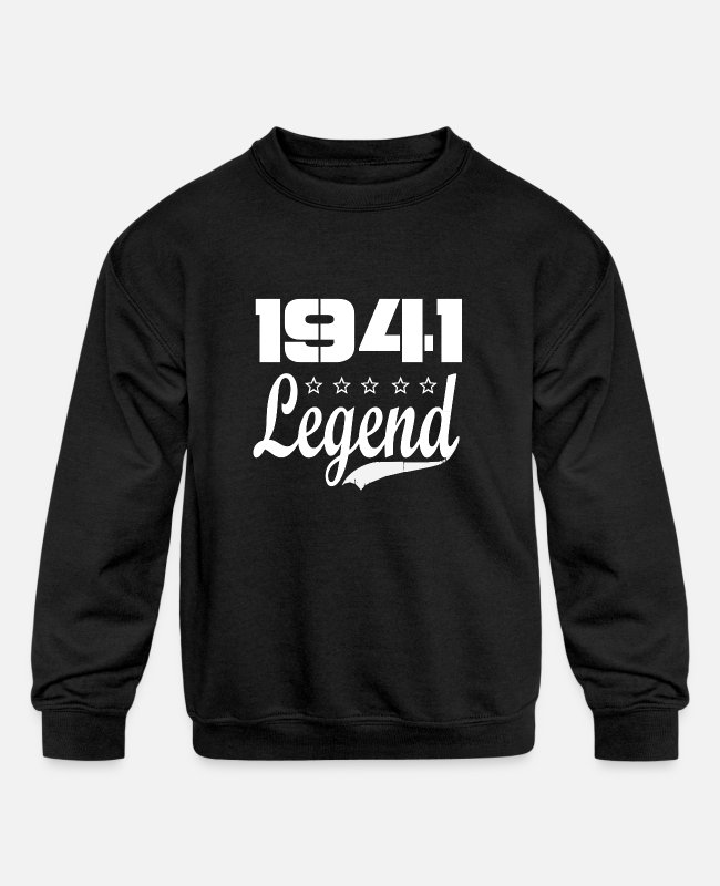 1941 Hoodies & Sweatshirts - 41 legend - Kids' Crewneck Sweatshirt black