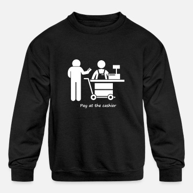 Pay Pay at the cashier - Kids' Crewneck Sweatshirt