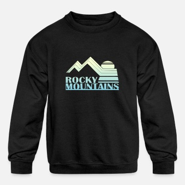 Mountains Rocky Mountains Vintage Tee - Kids' Crewneck Sweatshirt