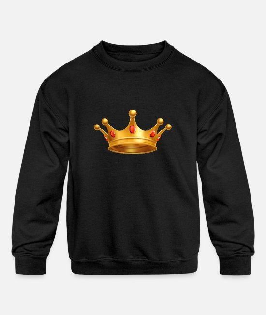 Royal Hoodies & Sweatshirts - Royal crown gold Vip - Kids' Crewneck Sweatshirt black