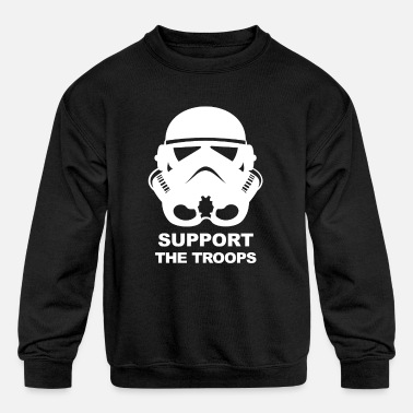 Support The Troops SUPPORT THE TROOPS - Kids' Crewneck Sweatshirt