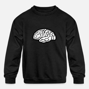 Brain Brain, brains - Kids' Crewneck Sweatshirt