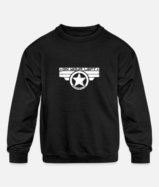 Superhero Hoodies & Sweatshirts - on your left - Kids' Crewneck Sweatshirt black