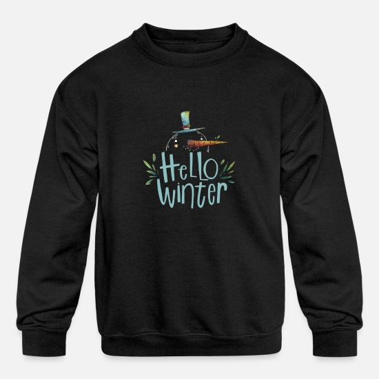 Snowflake Hoodies & Sweatshirts - winter - Kids' Crewneck Sweatshirt black