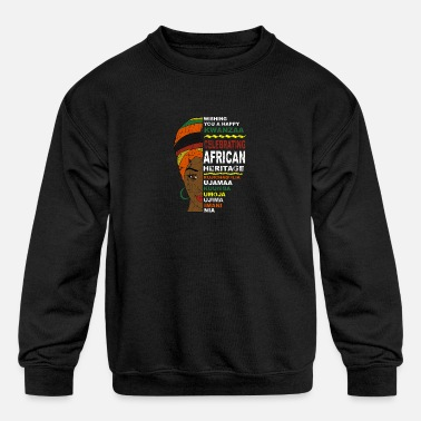 Happy Kwanzaa African Woman - Kids' Crewneck Sweatshirt